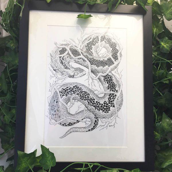 Leaf Adder - Brett Miley Art