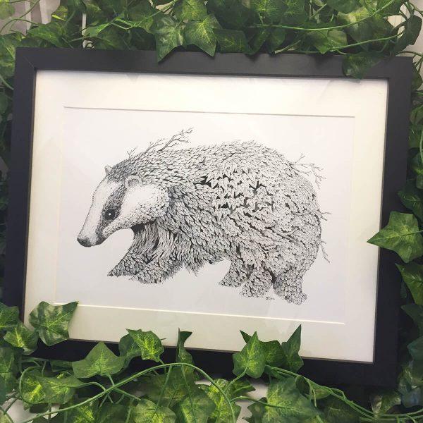 Leaf Badger - Brett Miley Art
