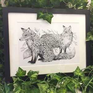 Leaf Foxes - Brett Miley Art
