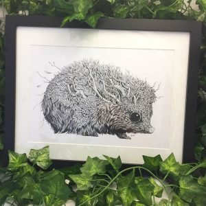 Leaf Hedgehog - Brett Miley Art