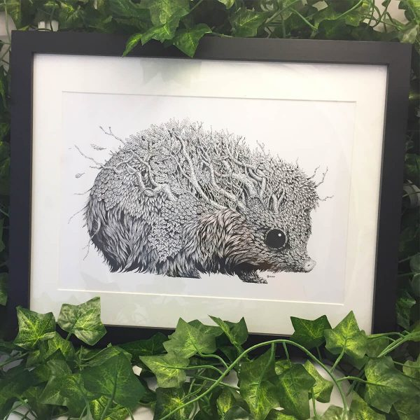Leaf Hedgehog - Brett Miley Art