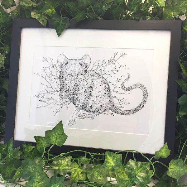 Leaf Mouse - Brett Miley Art