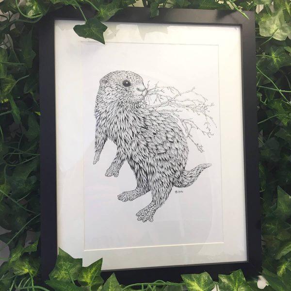 Leaf Otter - Brett Miley Art