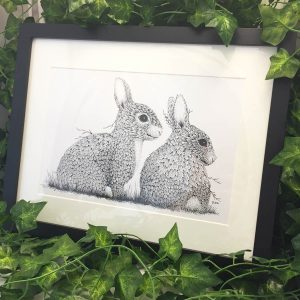 Leaf Rabbits - Brett Miley Art