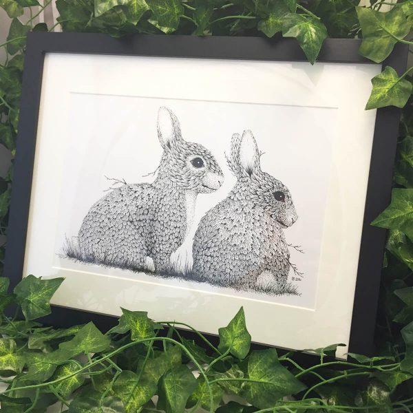 Leaf Rabbits - Brett Miley Art
