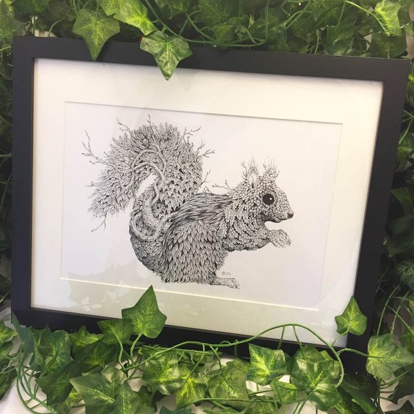 Leaf Squirrel - Brett Miley Art