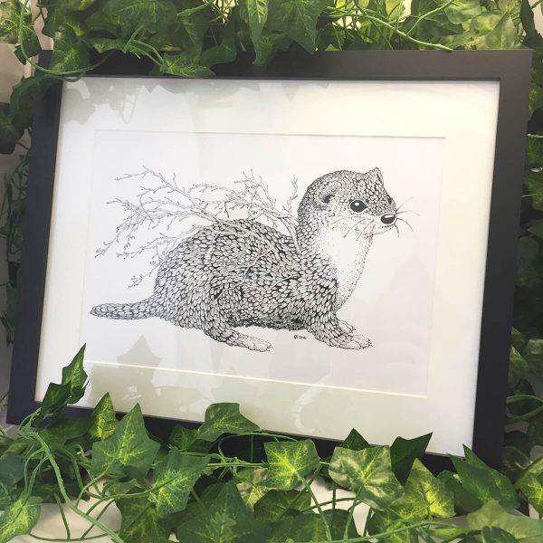 Leaf Weasel - Brett Miley Art