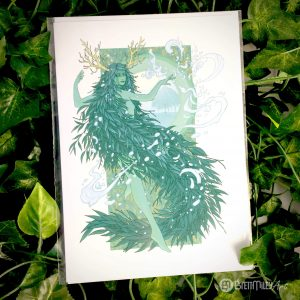Alba the Willow Water Witch Greetings Card - Brett Miley Art