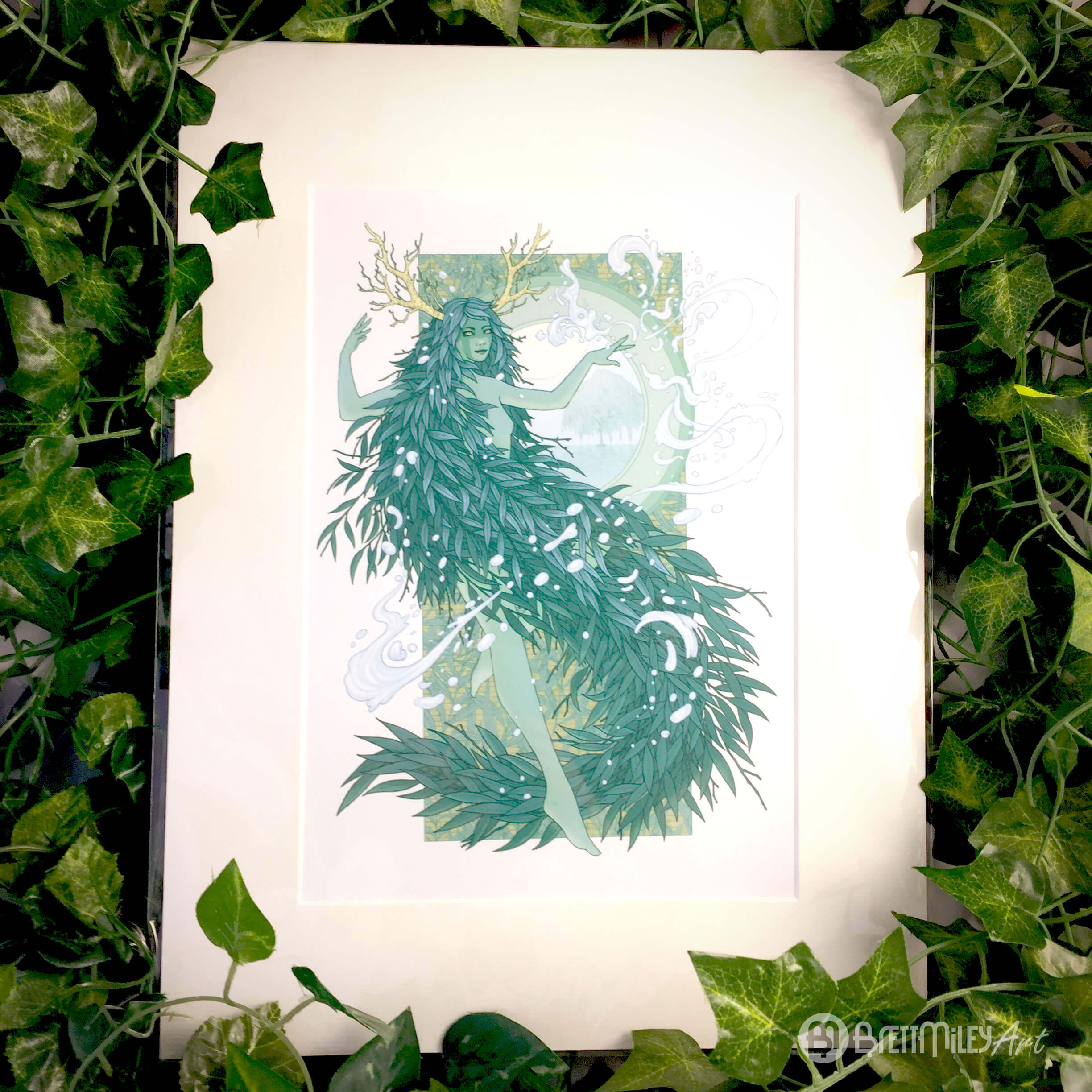 Alba the Willow Water Witch Prints - Brett Miley Art