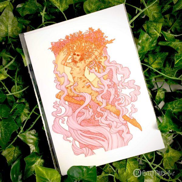 Dula the Spirit of Birches Greetings Cards - Brett Miley Art