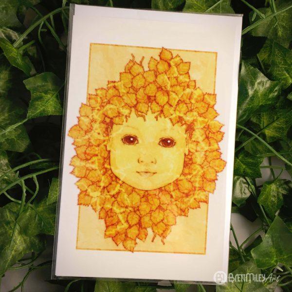 Golden Aspen Baby Greetings Cards - Brett Miley Art