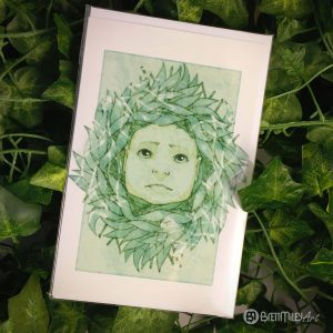 Sad Willow Baby Greetings Cards - Brett Miley Art