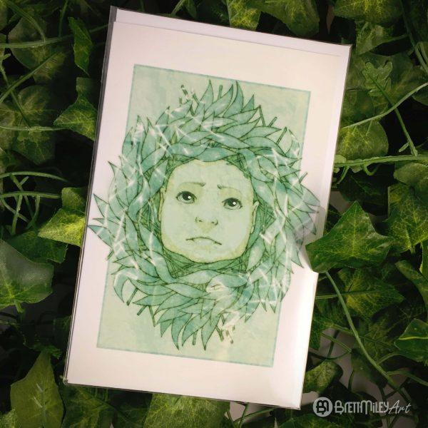 Sad Willow Baby Greetings Cards - Brett Miley Art