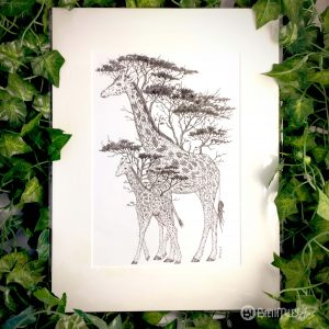 Tree Giraffes Print - Brett Miley Art