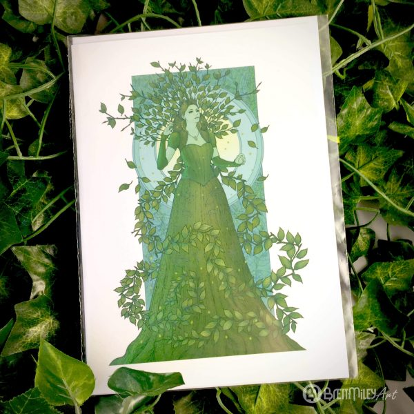 Vatica the Queen of Beeches Greetings Card - Brett Miley Art