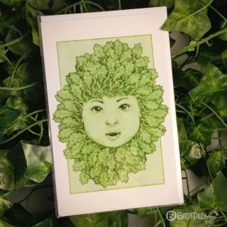 Green Oak Baby Greetings Cards - Brett Miley Art