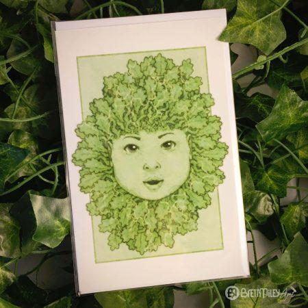 Green Oak Baby Greetings Cards - Brett Miley Art