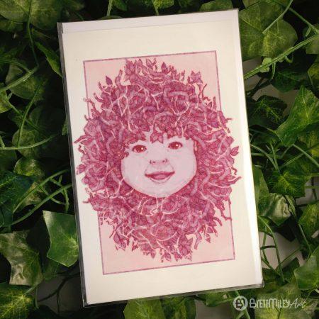Happy Tangle Baby Greetings Cards - Brett Miley Art