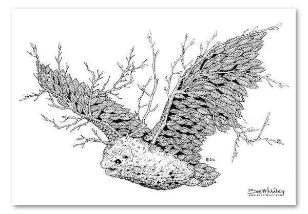 Leaf Bat Print - Brett Miley Art