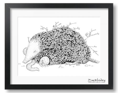 Leaf Mole Framed Original - By Brett Miley Art
