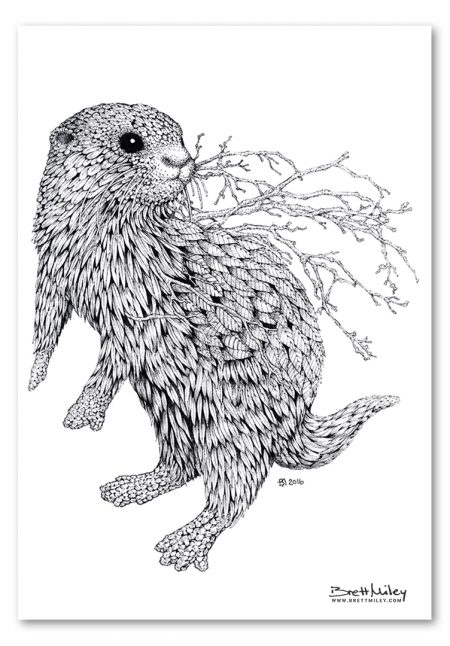 Leaf Otter Print - Brett Miley Art