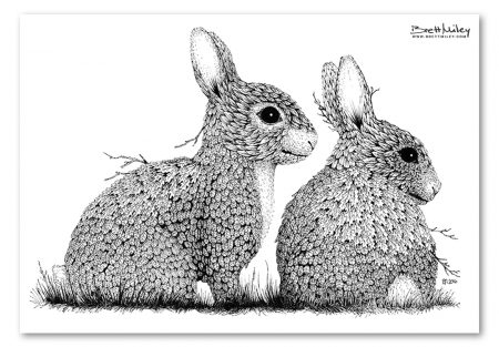 Leaf Rabbits Print - Brett Miley Art