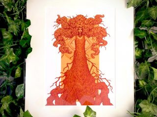 Robur the Oak of Strength and Wisdom Print - Brett Miley Art