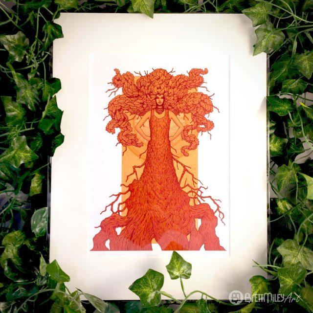 Robur the Oak of Strength and Wisdom Print - Brett Miley Art