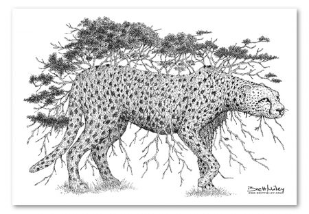Tree Cheetah Print - Brett Miley Art