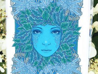 Frozen Leaves Card - by Brett Miley Art