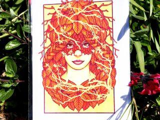 Autumn Braids Card - Brett Miley Art