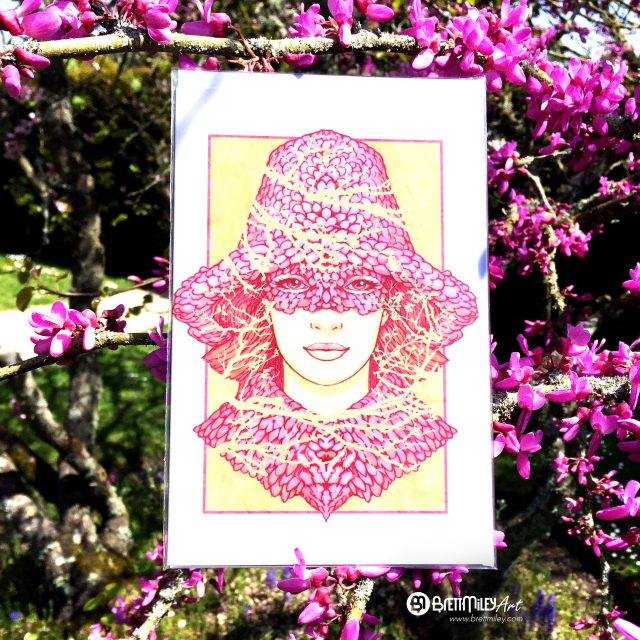 Blossom Bonnet Card - Brett Miley Art