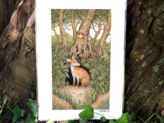 Fox Den Print - By Brett Miley Art
