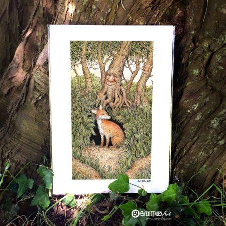 Fox Den Print - By Brett Miley Art