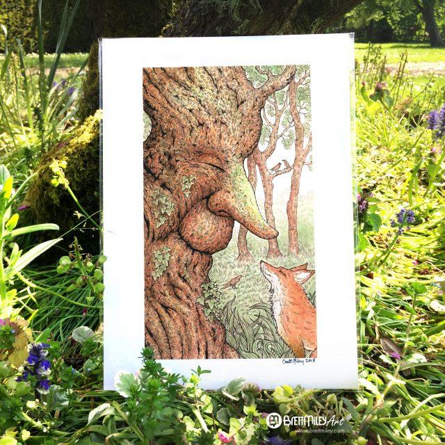 Fox Talk Print - Brett Miley Art