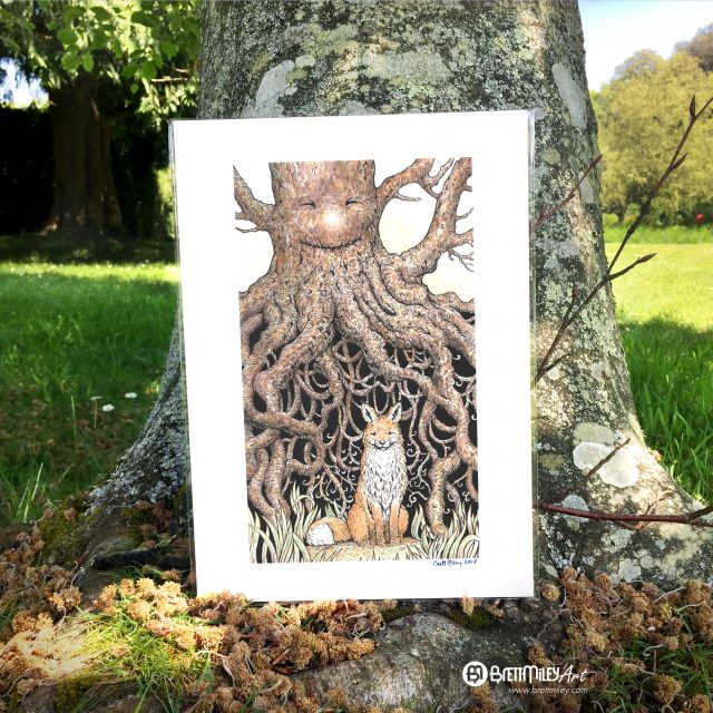 Fox Roots Print - by Brett Miley Art