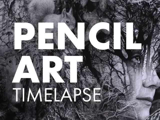 Pencil Art Timelapse Looking Through Brett MIley Art