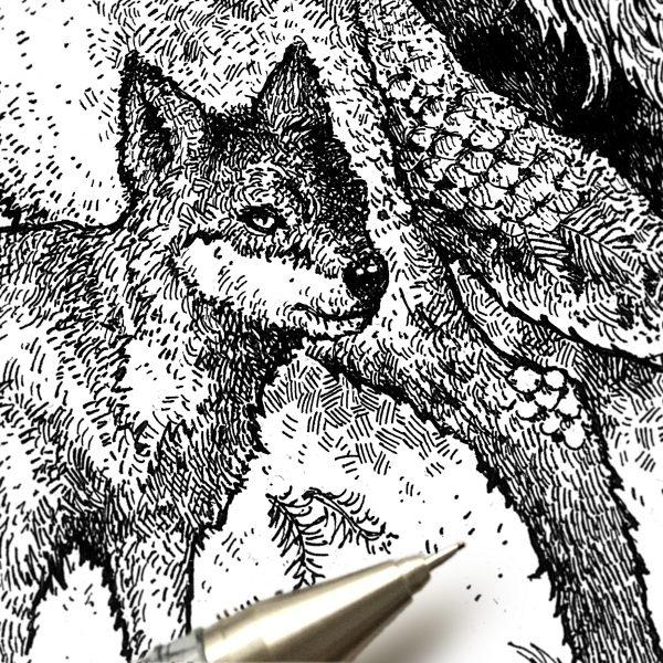Forest Wolves Art By Brett Miley