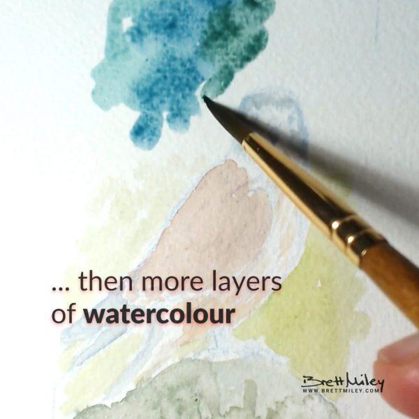 Kestrel Watercolour Art by Brett Miley
