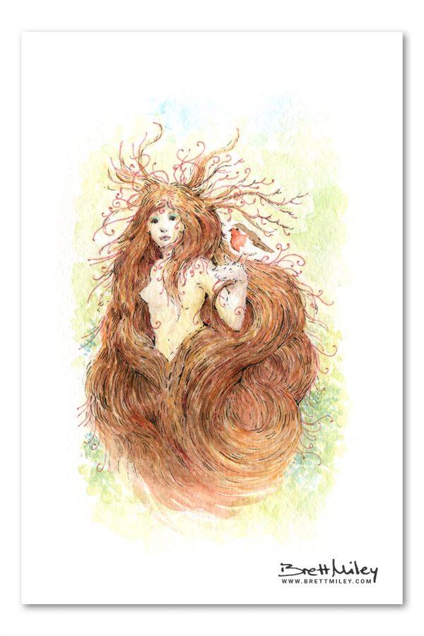 Fairy Watercolour Art by Brett Miley